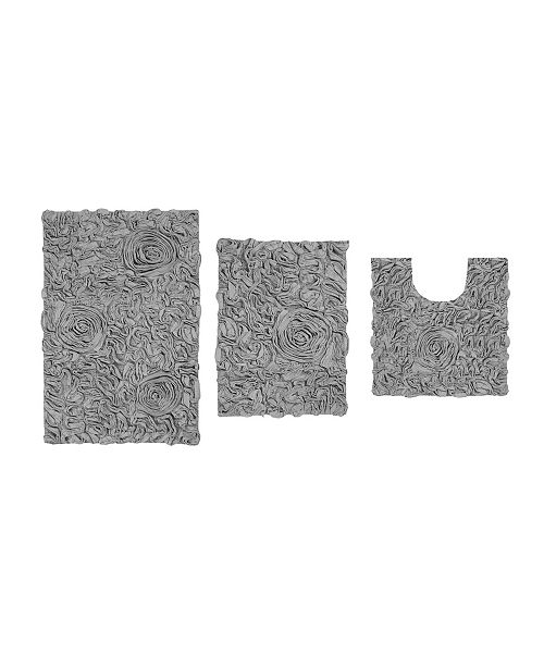 Home Weavers Bellflower Bath Rug 3 Pc