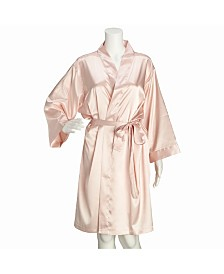 Lillian Rose Blush Satin Bridesmaid Robe L/XL