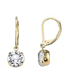 14K Gold-Dipped Genuine Swarovski Crystal Drop Earrings