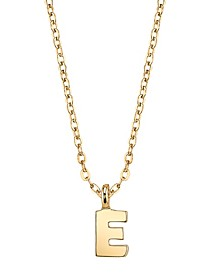 """Gold-Tone Initial Necklace 20"""""""