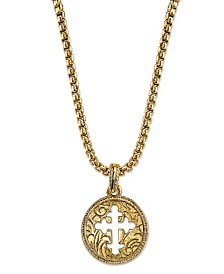 Symbols Of Faith 14K Gold-Dipped Coin Cross Necklace 20""
