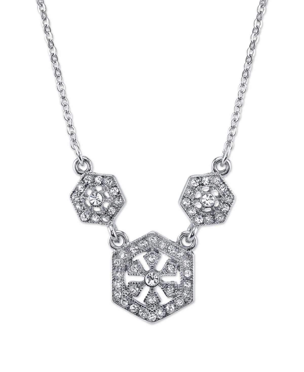 Downton Abbey Silver-Tone Crystal Necklace 16