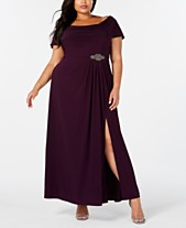 2fe07ca28d Alex Evenings Plus Size Cowl-Neck A-Line Gown