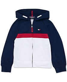 Tommy Hilfiger Big Girls Full-Zip Logo Hoodie