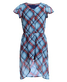 Tommy Hilfiger Big Girls Plaid Walkthrough Romper Dress