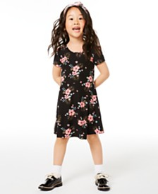 Epic Threads Little Girls Bow-Back Floral-Print Dress, Created for Macy's
