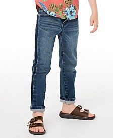 Epic Threads Little Boys Sutton Slim-Straight Fit Stretch Two-Tone Jeans, Created for Macy's