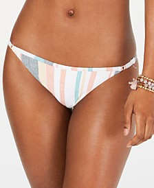 Roxy Juniors' Beach Classics Striped Bikini Bottoms