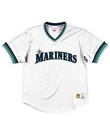 Mitchell & Ness Men's Seattle Mariners Mesh V-Neck Jersey