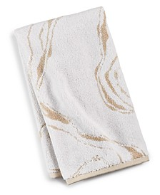"""20"""" x 30"""" Marble Turkish Cotton Fashion Hand Towel, Created for Macy's"""