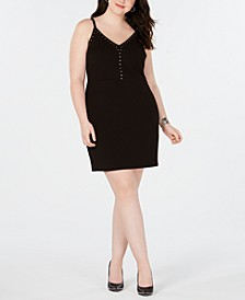 Trendy Plus Size Studded Bodycon Dress