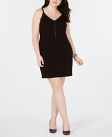 City Studios Trendy Plus Size Studded Bodycon Dress
