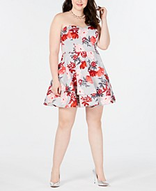 Trendy Plus Size Strapless Fit & Flare Dress, Created for Macy's
