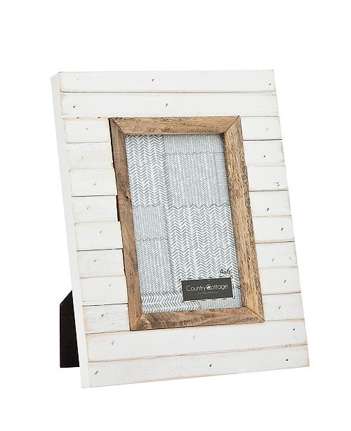 Philip Whitney Slatted White Frame - 4x6