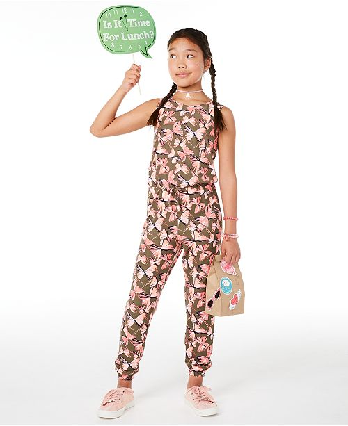 Epic Threads Big Girls Butterfly-Print Jumpsuit, Created for Macy's