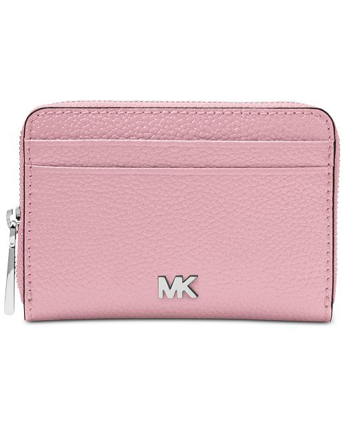 7bfbf2776abc86 Michael Kors Pebble Leather Zip-Around Coin & Card Case & Reviews ...