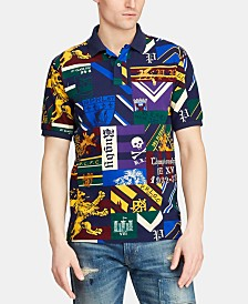 Polo Ralph Lauren Men's Classic Fit Varsity Blocked Mesh Cotton Polo