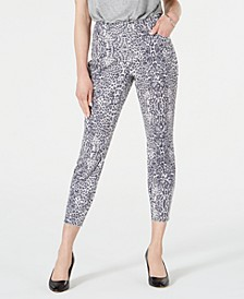 INC Animal-Print Curvy-Fit Skinny Jeans, Created for Macy's