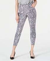 237faab348c I.N.C. Animal-Print Curvy-Fit Skinny Jeans, Created for Macy's