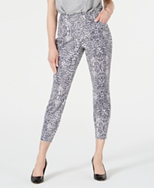 I.N.C. Animal-Print Curvy-Fit Skinny Jeans, Created for Macy's