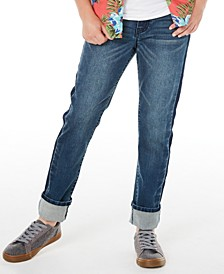 Big Boys Sutton Slim-Straight Fit Stretch Two-Tone Jeans, Created for Macy's