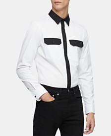 Calvin Klein Men's Slim-Fit Colorblocked Twill Shirt