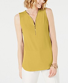 Petite Sleeveless Zip Top, Created for Macy's