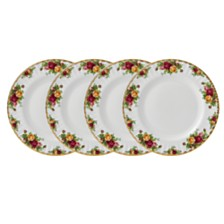 Royal Albert Old Country Roses Dinner Plate Set/4