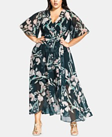 City Chic Trendy Plus Size Fresh Field Maxi Dress