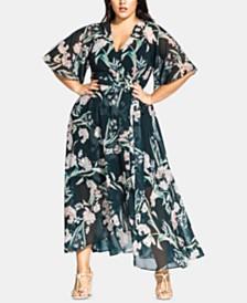 City Chic Trendy Plus Size Fresh Field Maxi Dress
