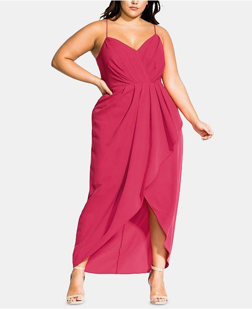City Chic Trendy Plus Size Tango Ruffle Maxi Dress