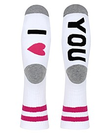 Ladies' Crew Socks I LOVE YOU