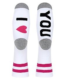 SOCK TALK Ladies' Crew Socks I LOVE YOU