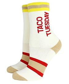 Cosmopolitan Ladies' Crew Socks  TACO TUESDAY