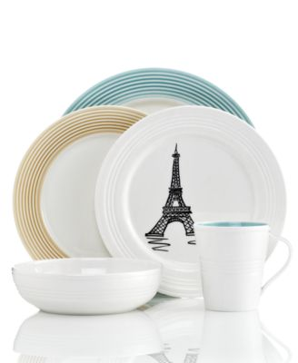 Mix simple ridged pieces of Tin Can Alley dinnerware with touches of color and accent plates crafted with European charm all in versatile ...  sc 1 st  Macyu0027s & Lenox Dinnerware Tin Can Alley Mix and Match Collection ...
