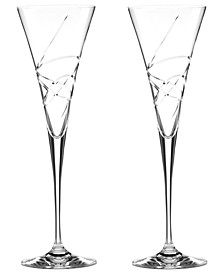 Stemware, Adorn Toasting Flutes, Set of 2