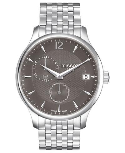 Tissot Men's Swiss Tradition Stainless Steel Bracelet Watch 42mm T0636391106700