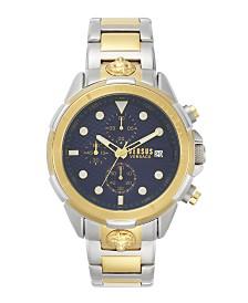 Versus Vesace Men's 6th Arrondissement Two-Tone Bracelet Watch 46MM