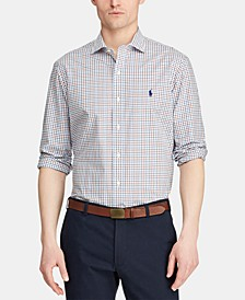 Men's Classic Fit Stretch Plaid Cotton Shirt