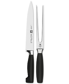 Zwilling J.A. Henckels Four Star Carving Knife & Fork 2-Pc. Set