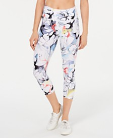 Calvin Klein Performance Magnolia Printed High-Waist Cropped Leggings