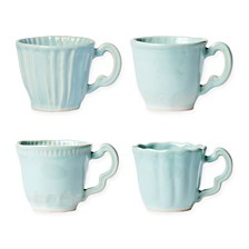 Vietri Incanto Stone Set/4 Assorted Mugs