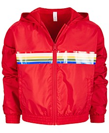 Big Girls Striped Windbreaker, Created for Macy's