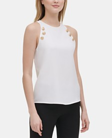 Calvin Klein Button-Detail Tank Top