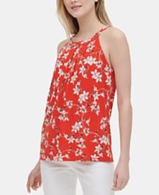 Calvin Klein Floral-Print Halter Top