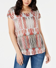 Style & Co Petite Short-Sleeve Dolman T-Shirt, Created for Macy's