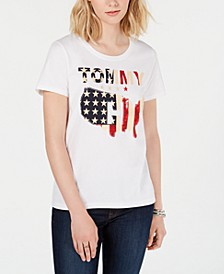 Cotton Logo Flag T-Shirt, Created for Macy's