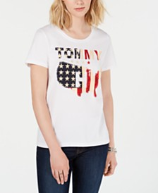 Tommy Hilfiger Cotton Logo Flag T-Shirt, Created for Macy's