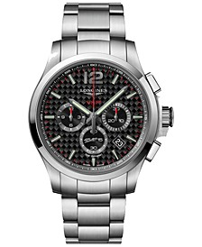 Men's Swiss Chronograph Conquest V.H.P Stainless Steel Bracelet Watch 42mm