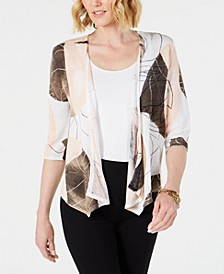 Printed Open-Front Cozy Cardigan, Created for Macy's